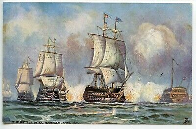Cpa Tuck And Sons Battle Of Copenhagen 1801 Nelson