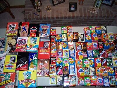 Old Baseball Card Lot Unopened Packs Mantle Rose Ryan +