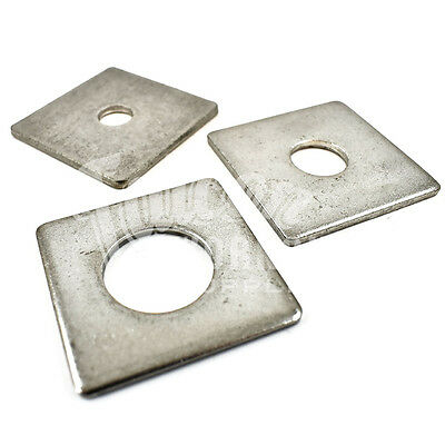 6 x M10 x 50 x 50 x 3mm A2 STAINLESS STEEL SQUARE PLATE CONSTRUCTION WASHER