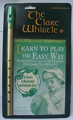 """Tin Whistle - Clare D Brass & """"Learn to Play Book""""  NEW"""