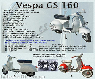 Vespa Gs 160 Scooter Mouse Mat Limited Edition Gs160