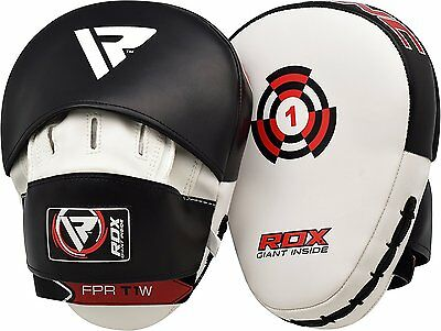 RDX Boxing Focus Pads,Hook & Jab Mitts Kick MMA Strike Punch Bag Kick Curved WBK