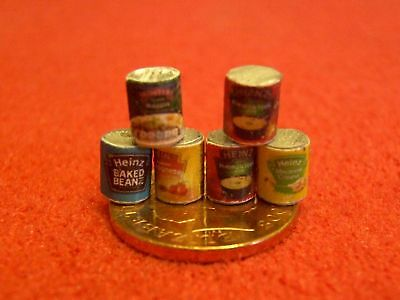 1/24th Scale Dolls House Miniature Food Tins T07