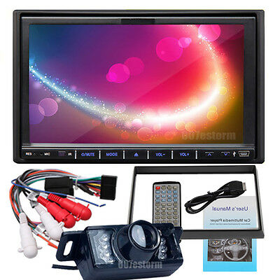 """Double 2Din 7"""" Car DVD MP3 Player Touch Screen In Dash Stereo Radio+Camera SWC"""
