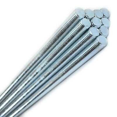 5, M5 x 800mm MILD STEEL THREADED METRIC BAR THREAD STUDDING ROD RESIN ANCHOR *