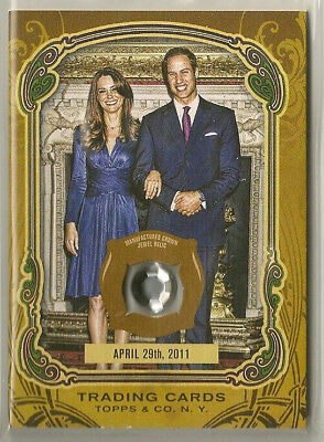 Prince William/Kate Middleton Topps Gypsy Queen Crown Jewel Relic April 29, 2011