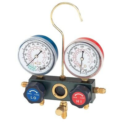 Dual Manifold Gauge Set with Manual Service Couplers FJC6697M Brand New!