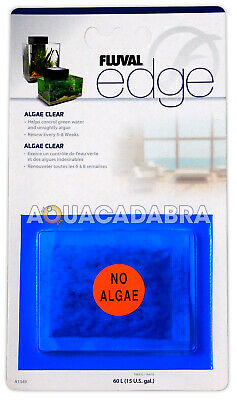 Fluval Edge Fish Tank Algae Clear Sachet For Filter Green Water Clear Aquarium
