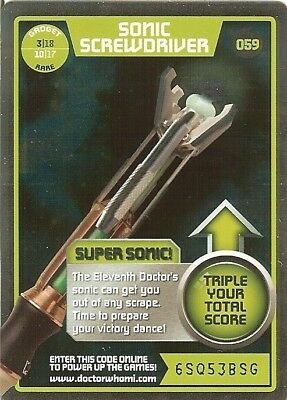Dr Who Monster Invasion Rare - 059 Sonic Screwdriver
