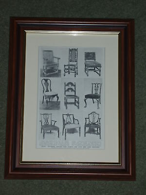 Print over 100 years old Chairs 17th & 18th centuries also available unframed x