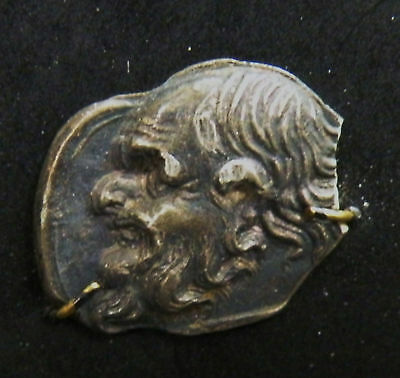 Aphrodite- Ancient Silver Relief Of Silenius Head