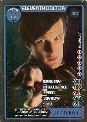 Dr Who Monster Invasion Rare - 001 Eleventh Doctor