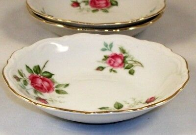 Mitterteich OLD DRESDEN ROSE 3 Fruit bowls A+ CONDITION