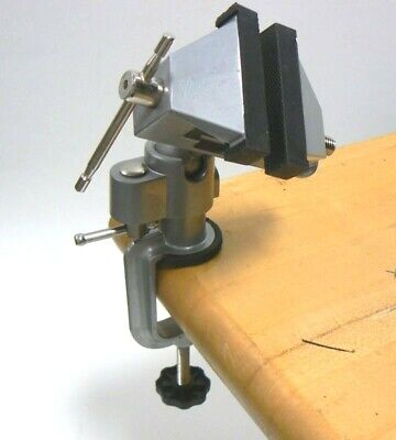 "VISES BENCH SWIVEL w/ CLAMP 3"" TABLETOP VISE TILT ROTATES 360° WORK BENCH TOOL"