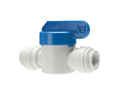 "John Guest equal 1/4"" PF Shut off Valve for Water Pipe Tube"