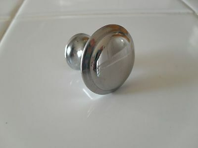 Vintage 50's NOS Small CHROME Drawer KNOBS Cabinet Pulls Handles Beveled Edge