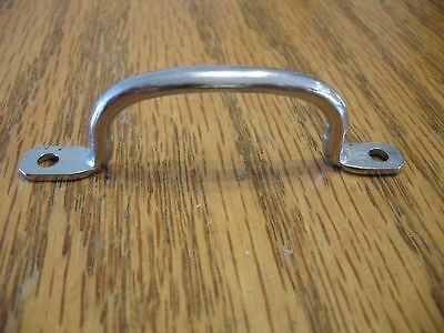 VINTAGE NOS 1950's Small Chrome Steel Breadboard Drawer Cabinet Pulls Handles