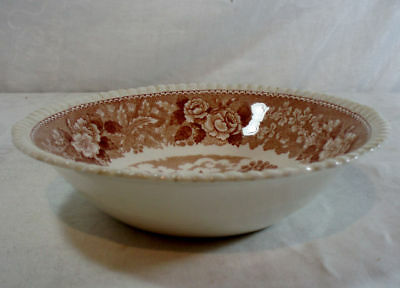 Adams English Scenic-Brown Coupe Cereal Bowl