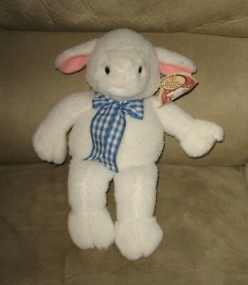 "Cute 12"" White Baby Woolly Lamb Bean Plush ""Lucy"""