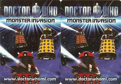 Dr Who Monster Invasion Set Of All 17 Rare Cards !!!