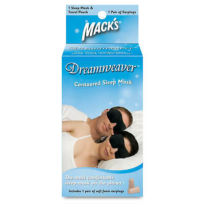 Mack's Dreamweaver Contoured Sleep Mask with Soft Foam Earplugs