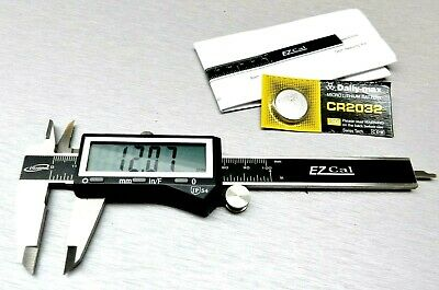"4"" Digital Electronic Caliper 3 Way Reading Inch Fractional Large Lcd Stainless"