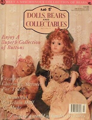Australian Dolls Bears & Collectables - Vol 1 No 5 - SAVE 25% Bulk Discount