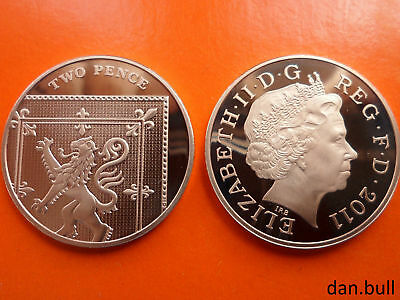 2011: Royal Coat of Arms PROOF 2p Coin: 2 Pence