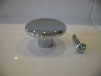 "Vintage 1950s CHROME Cabinet Drawer KNOBS pulls 1-7/16"" concave top beveled edge"