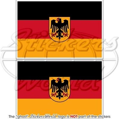 "GERMANY German State Flag 3"" (75mm) Bumper Stickers x2"
