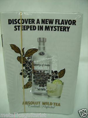 (25) Absolut Wild Tea Vodka - Brochure Booklet - Sealed *new*