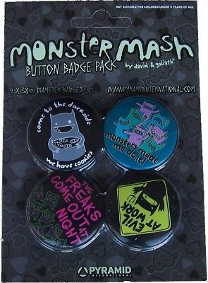 David Goliath Monster Mash Spille Spilla Pin Badge 1