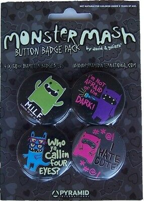 David Goliath Monster Mash Spille Spilla Pin Badge 2