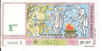 Loterie Nationale - Tranche Hebdomadaire Speciale 1960