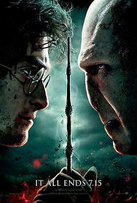 Movie Poster Print:Harry Potter:Deathly Hallows *BUY ONE GET ONE FREE*  (A3/A4)