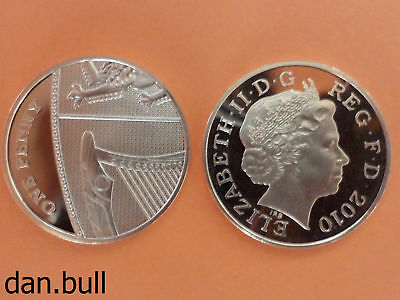 2010: Royal Coat of Arms PROOF 1p Coin: 1 Pence