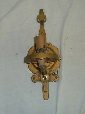 Antique Brass Wall Sconce Vintage