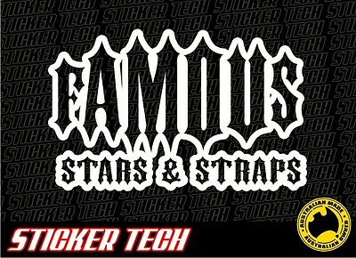 Famous Stars And Straps Vinyl Sticker Decal Suits Window Car Ute Truck 4Wd 4X4