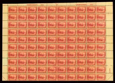 momen: US Stamps #329 Full Sheet of 100 Mint OG Scarce