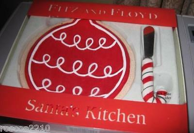 Fitz and Floyd Santa's Kitchen Snack Set- New in Box