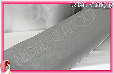 SILVER 1.4m x 36m Soft Wedding Tulle Bolt Fabric Material Roll Drape Swag Bow