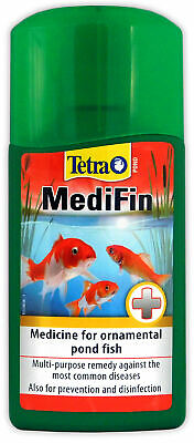 TETRA POND MEDIFIN 250ml SICK FISH TREATMENT DISEASE PARASITES BACTERIA FUNGUS
