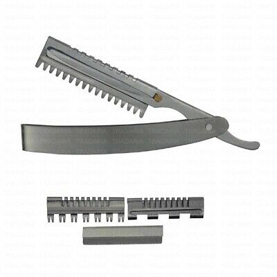 SALON THINNING STYLING SHAPER FEATHER RAZOR WITH BLADE