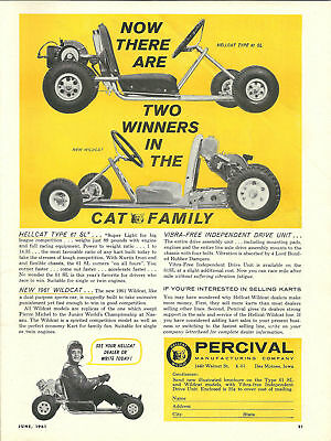 Vintage Beautiful Percival Hellcat Amp Wildcat Go Kart Ad