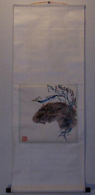 20th CENTURY CHINESE HAND PAINTED SCROLL BY HUBO