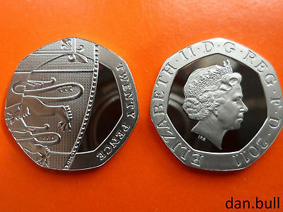 2011: Royal Coat of Arms PROOF 20p Coin: 20 Pence