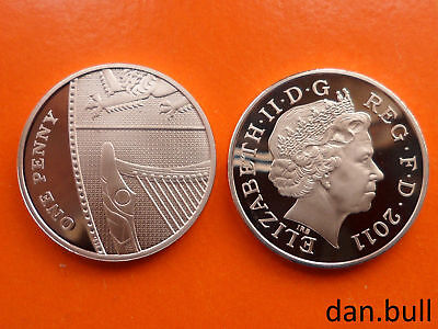 2011: Royal Coat of Arms PROOF 1p Coin: 1 Pence