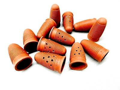 Finger Cots Tory Natural Rubber Red Finger Tip Covers Size #11.5 Tips Pack Of 12