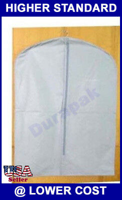 50 24X54 PEVA Leatherette White Zipper Garment Bags