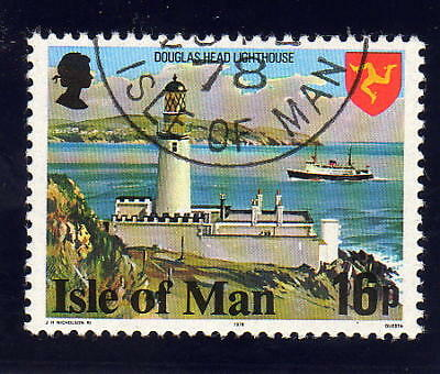 ISLE OF MAN 1978 16p PERF 14½ SG 123a FINE USED.